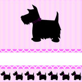 Scottish Terrier dog card stock illustration