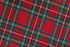 Scottish tissue, sloping lines, high resolution Royalty Free Stock Image