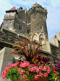 Scottish Tower. The East or Scottish Tower (back view) of the castle Casa Loma. Casa Loma one of the famous Canadian Castles situated in Toronto - Ontario Royalty Free Stock Images