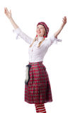 Scottish traditions. Concept with person wearing kilt Royalty Free Stock Photos
