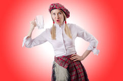 Scottish traditions concept with person Royalty Free Stock Images