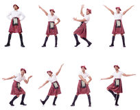 The scottish traditions concept with person wearing kilt Royalty Free Stock Photography