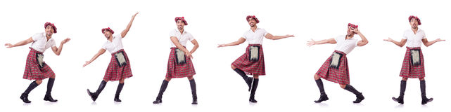 The scottish traditions concept with person wearing kilt Stock Images