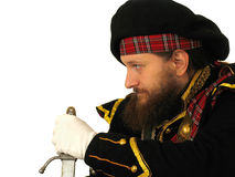 Scottish warrior with sword Royalty Free Stock Photography