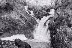 Scottish Waterfall, the Rogie Falls Royalty Free Stock Photos