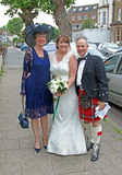 Scottish wedding Royalty Free Stock Photos