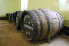 Scottish Whisky barrels Stock Image