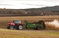Scottish winter farming activity. Royalty Free Stock Photos