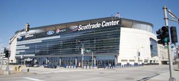 Scottrade-Mitte, im Stadtzentrum gelegenes St. Louis, Missouri lizenzfreie stockfotografie