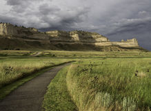Scotts Bluff National Monument. Is located in western Nebraska Royalty Free Stock Photo