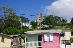 Scotts Head fishing village in Dominica. SCOTTS HEAD, DOMINICA - JANUARY 6, 2017 - Scotts Head fishing village in Dominica on January 6, 2017. It`s the meeting royalty free stock photos