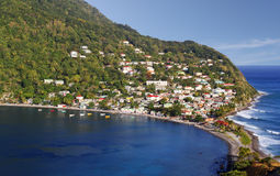 Scotts-Kopffischerdorf in Dominica, Karibikinseln Lizenzfreie Stockfotos
