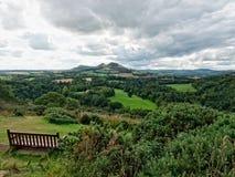 Scotts sikt i de skotska gränserna, Skottland Arkivbilder