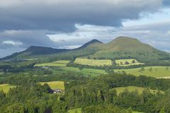 Scotts View in Scotland stock photography