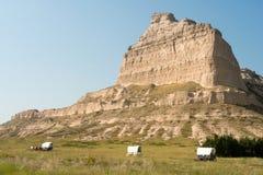 Scottsbluff Nationale Monument Behandelde Wagen Nebraska Midwesten de V.S. royalty-vrije stock afbeeldingen
