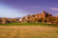 Scottsdale, Arizona, de cursus van het landschapsgolf Stock Afbeeldingen