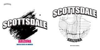 Scottsdale, Arizona, dwa logo grafiki Zdjęcia Stock