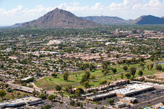 Scottsdale Arizona horisont Royaltyfria Foton