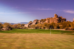 Scottsdale, Arizona, landscape golf course Stock Images