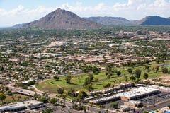 Scottsdale, Arizona linia horyzontu Zdjęcia Royalty Free