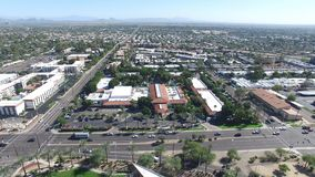Scottsdale, Arizona, USA - Landscape Aerial shot of Scottsdale on a Beautiful Day. No Clouds stock images