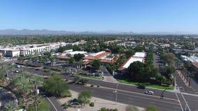 Scottsdale, Arizona, USA - Landscape Aerial shot of a nice Neighborhood on a Sunny Day. Scottsdale, Arizona, USA - Landscape Aerial shot of Scottsdale with Palm stock photo