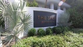 Scottsdale Arizona, usa,/- 11/4/2018: Scott zdroju i kurortu znak zdjęcie wideo