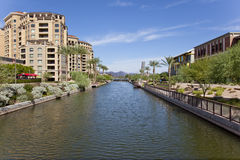 Scottsdale Arizona Waterfront District Stock Photo