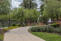 Scottsdale Arizona Waterfront District Walkway Royalty Free Stock Photo