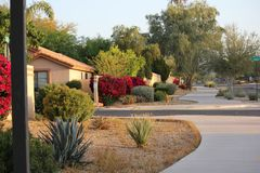Scottsdale as suburban ranchland, the city has become a sporty yet laid-back resort destination famed for its posh properties, lu. Sh golf courses, and indulgent Stock Images
