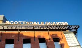 Scottsdale, Az/USA - 9 17 18: Het Scottsdalekwart is een eclectische mengeling van het dineren, kleinhandels en vermaak royalty-vrije stock fotografie