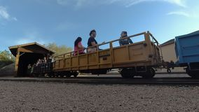 The McCormick-Stillman Railroad Park in Scottsdale. Scottsdale, Az/USA - 4, 22, 2018 The McCormick-Stillman Railroad Park is operated by the city of Scottsdale`s stock footage