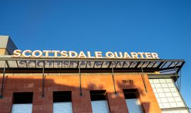 Scottsdale,Az/USA - 9.17.18: Scottsdale Quarter is an eclectic mix of dining, retail and entertainment. Royalty Free Stock Photography