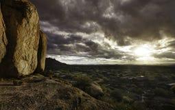 Scottsdale,Cavecreek serene majestic desert visa Royalty Free Stock Photo