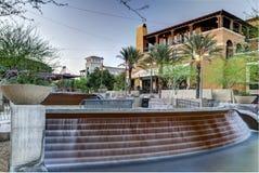 Scottsdale del centro Arizona nel distretto di lungomare. Fotografia Stock Libera da Diritti