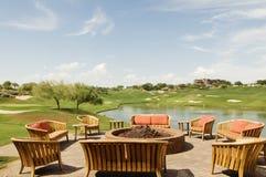 Scottsdale-Golfrücksortierung Klumpen-Haus-Aufenthaltsraum Stockbilder