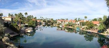 Scottsdale nadbrzeżny obszar zamieszkały w Arizona, usa zdjęcia stock