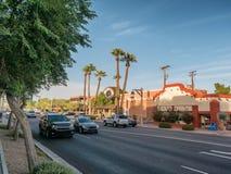 Scottsdale old town center, Phoenix Stock Photos