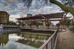 Scottsdale południe most przy zmierzchem zdjęcia stock
