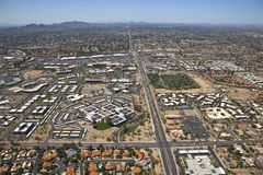 Scottsdale Rooftops and Retail Royalty Free Stock Images