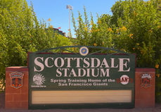 A Scottsdale Stadium Shot, Scottsdale, Arizona Royalty Free Stock Image