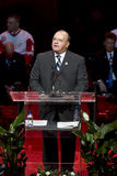 Scotty Bowman Speaks Royalty Free Stock Photography