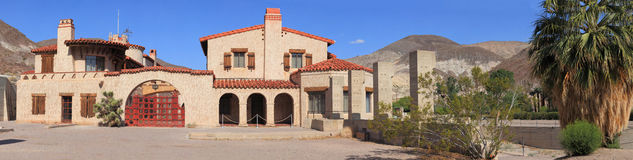 Scotty's castle. Is a two-story Mission Revival and Spanish Colonial Revival style villa located in the Grapevine Mountains of northern Death Valley in Death Stock Photography