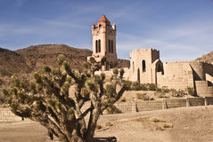 Scotty's Castle. This is a rear view of Scotty's Castle - a public museum in Death Valley National Park in California Royalty Free Stock Photo