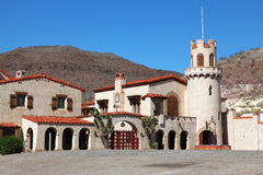 Scotty's Castle in Death Valley Stock Photo