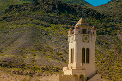 Scotty's Castle Death Valley, California. Scotty's Castle is a two-story Mission Revival and Spanish Colonial Revival style villa located in the Grapevine Royalty Free Stock Photo