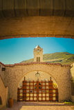 Scotty's Castle Death Valley, California. Scotty's Castle is a two-story Mission Revival and Spanish Colonial Revival style villa located in the Grapevine Stock Images