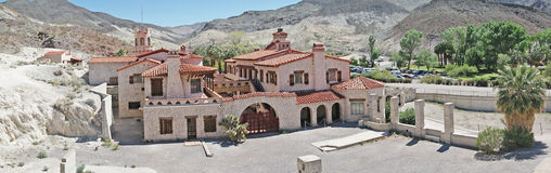 Scotty's Castle - Death Valley - Panorama royalty free stock images