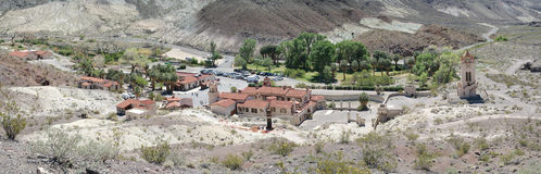 Scotty's Castle - Death Valley - Panorama Stock Image