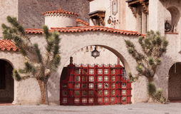Scotty's Castle Gate Stock Image
